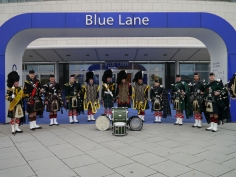 German ceremonial pipes and drums 2012