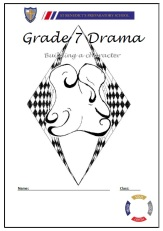 Drama book cover page, inspiring creativity, shout out to teachers