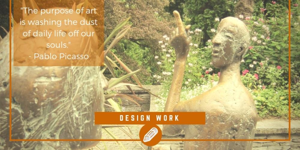 Freelance design work portfolio, the Lonely Busker